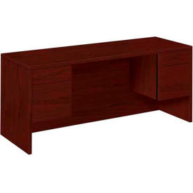 "HON® 10500 Series Credenza with Knee space - Box/File, 60""W x 24""D x 29-1/2""H Mahogany"