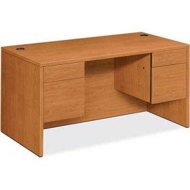 """HON® Double Pedestal Desk - 60""""W x 30""""D x 29-1/2""""H - Harvest - 10500 Series"""