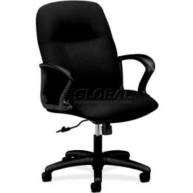HON® - Gamut® 2070 Series, Managerial Mid-Back Swivel/Tilt Chair, Black