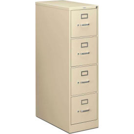 HON 210 Series Four-Drawer Vertical File, Letter, Putty