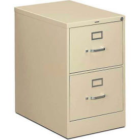 "HON® - 310 Series 2 Drawer Vertical File, 26-1/2""D, Legal, Putty"