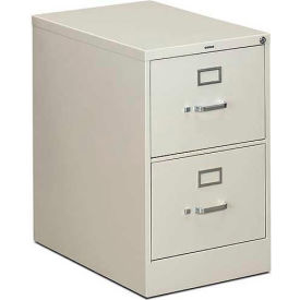 "HON® - 310 Series 2 Drawer Vertical File, 26-1/2""D, Legal, Light Gray"