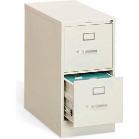 "HON® - 310 Series 2 Drawer Vertical File, 26-1/2""D, Letter, Putty"