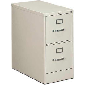 "HON® - 310 Series 2 Drawer Vertical File, 26-1/2""D, Letter, Light Gray"