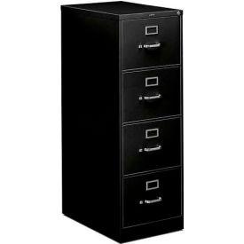 "HON® - 310 Series 4 Drawer Vertical File, 26-1/2""D, Legal, Black"