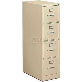 "HON® - 310 Series 4 Drawer Vertical File, 26-1/2""D, Letter, Putty"