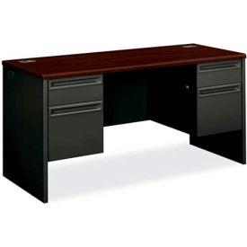 """HON Credenza for 38000 Series Double Pedestal 60""""W x 24""""D x 29-1/2""""H Mahogany by"""