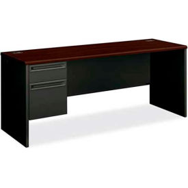 "HON® Credenza for 38000 Series - Single Left Pedestal - 72""W x 24""D x 29-1/2""H - Mahogany"