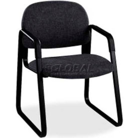 HON® - Solutions Seating® 4000 Series, Guest Chair with Sled Base, Confetti Black