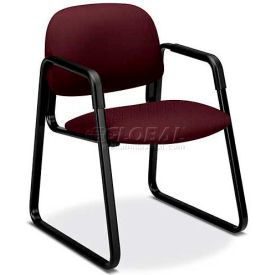 HON® - Solutions Seating® 4000 Series, Guest Chair with Sled Base, Wine