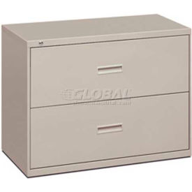 """HON® - basyx® 400 Series 2 Drawer Lateral File, 36""""W, Light Gray"""