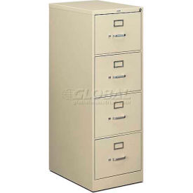 "HON® - 510 Series 4 Drawer Vertical File, 25""D, Legal, Putty"