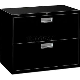 "HON® - Brigade®  600 Series 2 Drawer Lateral File, 36""W, Black"