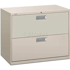 "HON® - Brigade®  600 Series 2 Drawer Lateral File, 36""W, Light Gray"