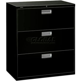 "HON® - Brigade®  600 Series 3 Drawer Lateral File, 36""W, Black"