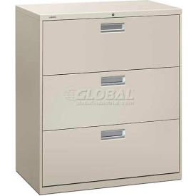 """HON® - Brigade®  600 Series 3 Drawer Lateral File 36""""W Light Gray"""