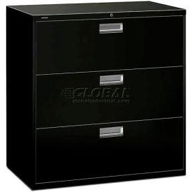 "HON® - Brigade®  600 Series 3 Drawer Lateral File, 42""W, Black"
