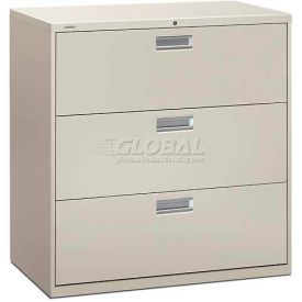 "HON® - Brigade®  600 Series 3 Drawer Lateral File, 42""W, Light Gray"