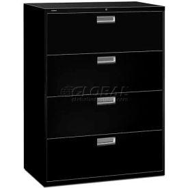 "HON® - Brigade®  600 Series 4 Drawer Lateral File, 42""W, Black"