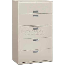 "HON® - Brigade®  600 Series 5 Drawer Lateral File, 42""W, Light Gray"