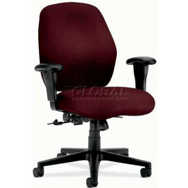 HON® - 7800 Series, Mid-Back Task Chair with Adjustable Arms, Wine