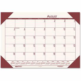 House of Doolittle™ EcoTones Academic Desk Pad Calendar, 18-1/2 x 13, Brown Corners, 2018-2019