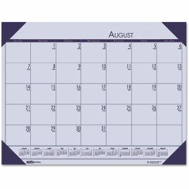 House of Doolittle EcoTones Academic Desk Pad Calendar, 18-1/2 x 13, Cordovan Corners, 2018-2019