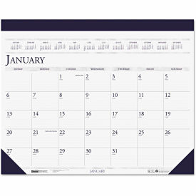 House of Doolittle™ Two-Color Refillable Monthly Desk Pad Calendar, 22 x 18, 2019