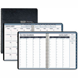 House of Doolittle™ Wirebound Weekly/Monthly Planner, 8-1/2 x 11, Black Leatherette, 2019