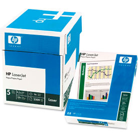 "Laser Copy Paper - HP 115300 - White - 8-1/2"" x 11"" - 2500 Sheets"