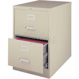 """Hirsh Industries® 25"""" Deep Vertical File Cabinet 2-Drawer Legal Size - Putty"""