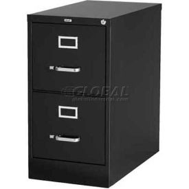 "Hirsh Industries® 26-1/2"" Deep Vertical File Cabinet 2-Drawer Letter Size - Black"