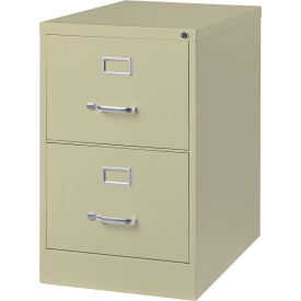 "Hirsh Industries® 26-1/2"" Deep Vertical File Cabinet 2-Drawer Legal Size - Putty"