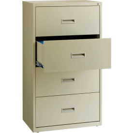 "Hirsh Industries® HL1000 Series® Lateral File 30"" Wide 4-Drawer - Putty"