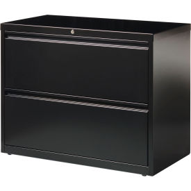 "Hirsh Industries® HL10000 Series® Lateral File 36"" Wide 2-Drawer - Black"