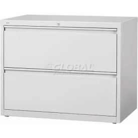 "Hirsh Industries® HL10000 Series® Lateral File 36"" Wide 2-Drawer - Light Gray"
