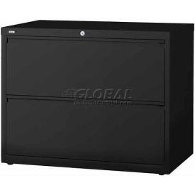 "Hirsh Industries® HL10000 Series® Lateral File 42"" Wide 2-Drawer - Black"