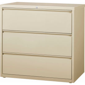 """Hirsh Industries® HL10000 Series® Lateral File 42"""" Wide 3-Drawer - Putty"""
