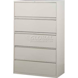 "Hirsh Industries® HL10000 Series® Lateral File 42"" Wide 5-Drawer - Putty"
