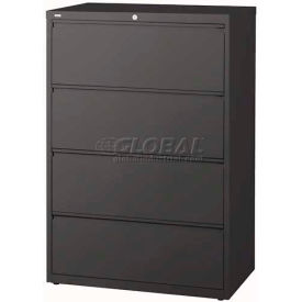 "Hirsh Industries® HL10000 Series® Lateral File 36"" Wide 4-Drawer - Charcoal"
