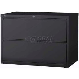"Hirsh Industries® HL10000 Series® Lateral File 42"" Wide 2-Drawer - Charcoal"