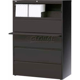 """Hirsh Industries® HL10000 Series® Lateral File 42"""" Wide 5-Drawer - Charcoal"""