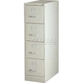 "Hirsh Industries® 26-1/2"" Deep Vertical File Cabinet 4-Drawer Letter Size - Putty"
