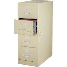 """Hirsh Industries® 26-1/2"""" Deep Vertical File Cabinet 4-Drawer Legal Size - Putty"""