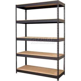 "Hirsh Industries® 48""W x 18""D x 72""H, Riveted Steel Boltless Shelving Unit, 5-Shelf"