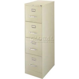 """Hirsh Industries® 25"""" Deep Vertical File Cabinet 4-Drawer Letter Size - Putty"""