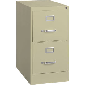"""Hirsh Industries® 22"""" Deep Vertical File Cabinet 2-Drawer Letter Size Putty"""