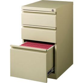 "Hirsh Industries® 20"" Deep Box/Box/File Mobile Pedestal - Putty"