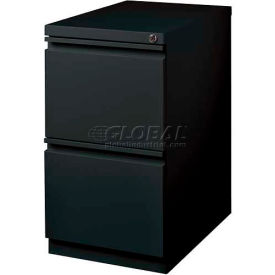 "Hirsh Industries® 20"" Deep File/File Mobile Pedestal - Black"