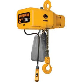 NER Electric Chain Hoist w/ Hook Suspension - 2 Ton, 10' Lift, 7 ft/min, 460V